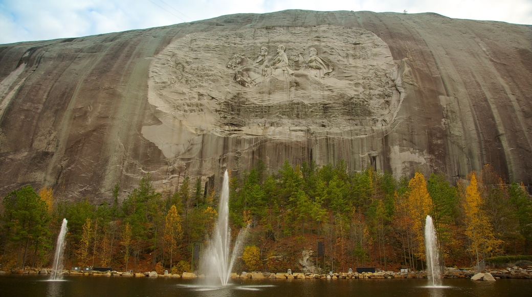 Atlanta showing a fountain, mountains and outdoor art