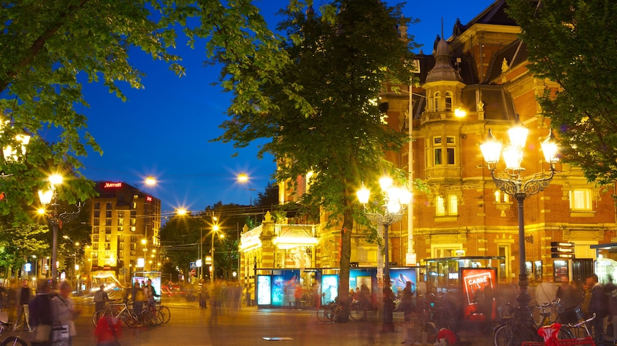 Amsterdam featuring heritage architecture, night scenes and a city