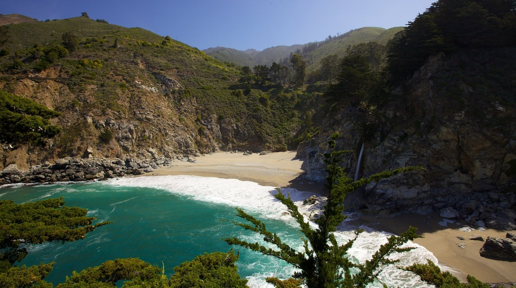 Pfeiffer Big Sur State Park featuring a beach, general coastal views and mountains