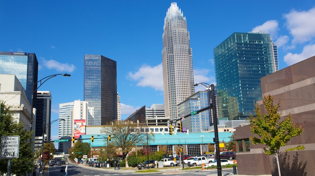 Charlotte featuring a city, a skyscraper and street scenes