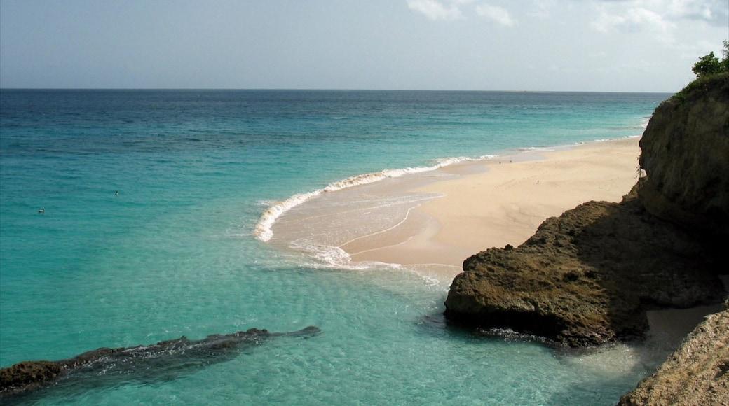 Anguilla featuring a sandy beach, general coastal views and landscape views