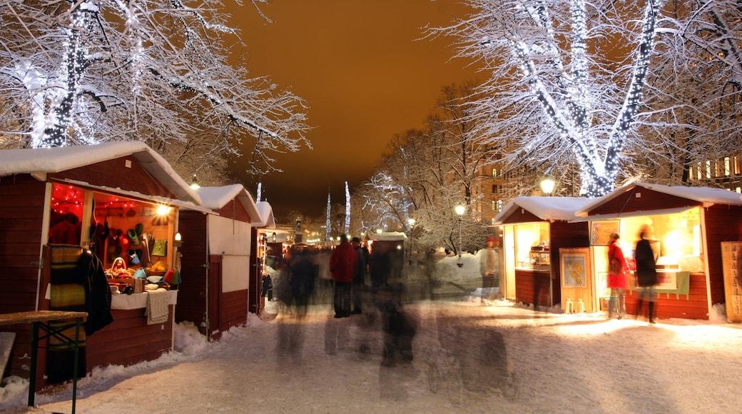 Helsinki joka esittää kaupunki, katunäkymät ja yökuvat