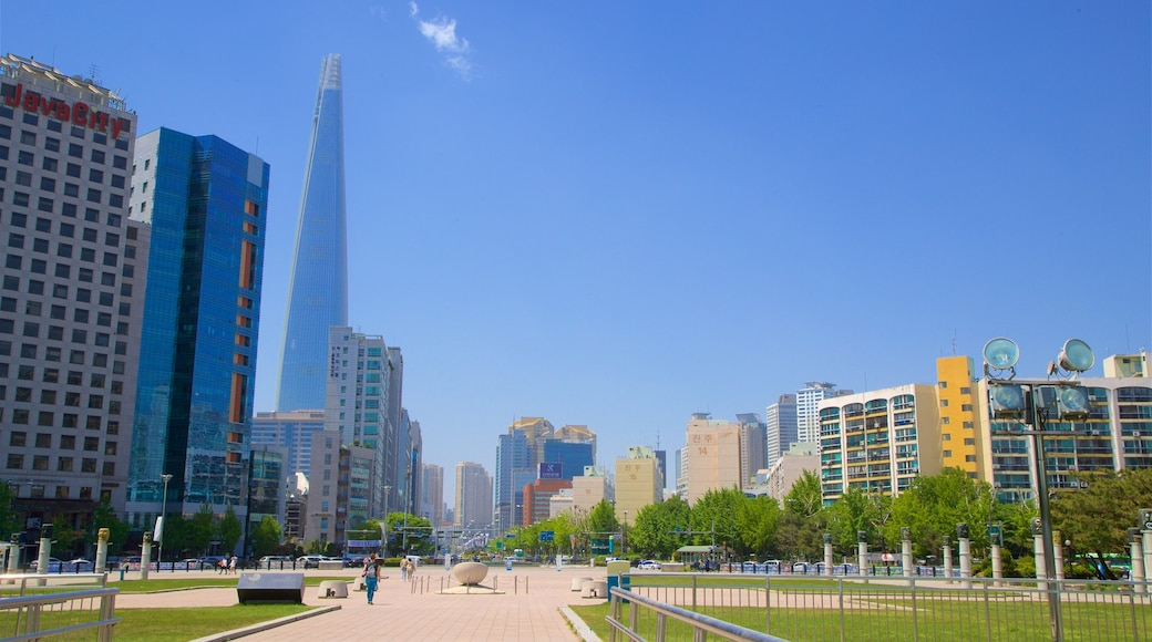 สวนโอลิมปิก แสดง อาคารสูง, วิวทิวทัศน์ และ สวนสาธารณะ