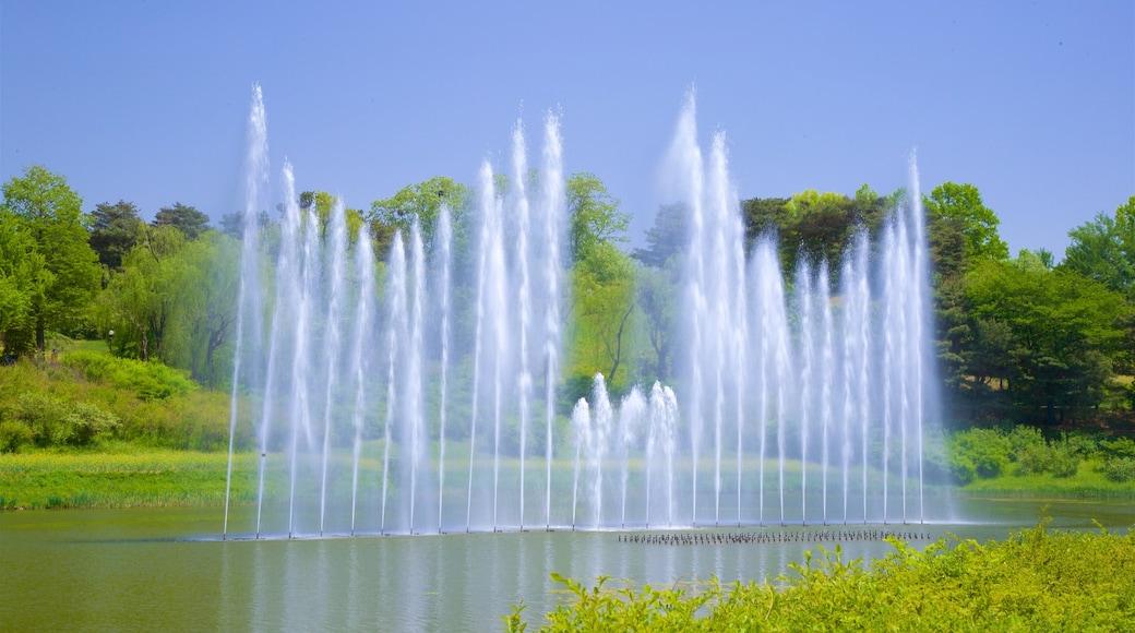 สวนโอลิมปิก แสดง น้ำพุ และ แม่น้ำหรือลำธาร