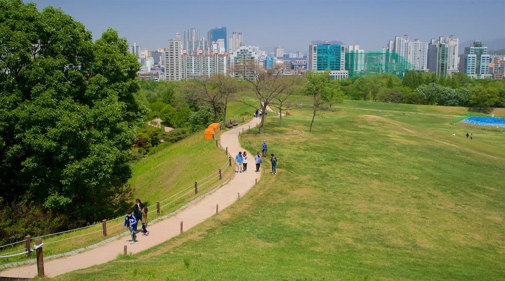 สวนโอลิมปิก แสดง ตึกระฟ้า, สวน และ เมือง