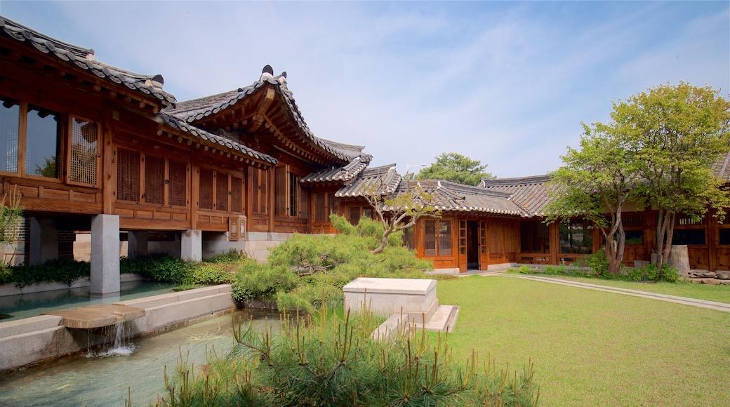 韓國家具博物館 呈现出 公園, 傳統元素 和 噴泉