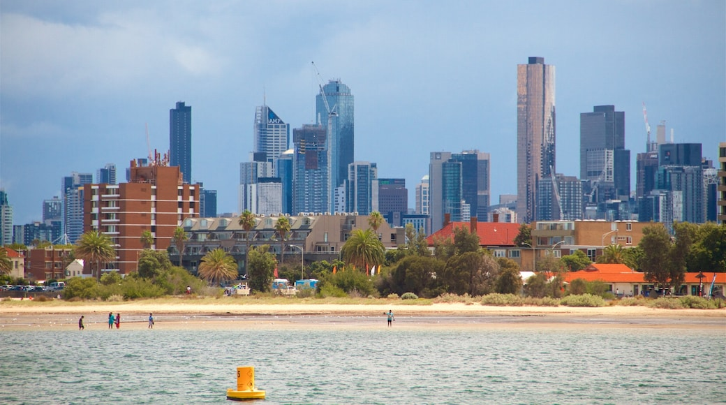 St Kilda featuring landscape views, a city and general coastal views
