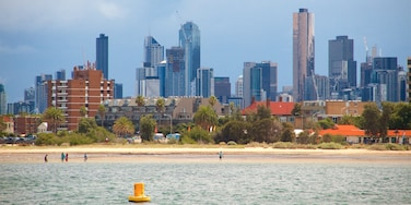 St Kilda which includes a coastal town, a city and a high-rise building