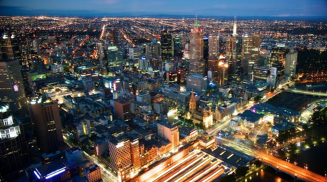 墨爾本 呈现出 城市, 高樓大廈 和 山水美景