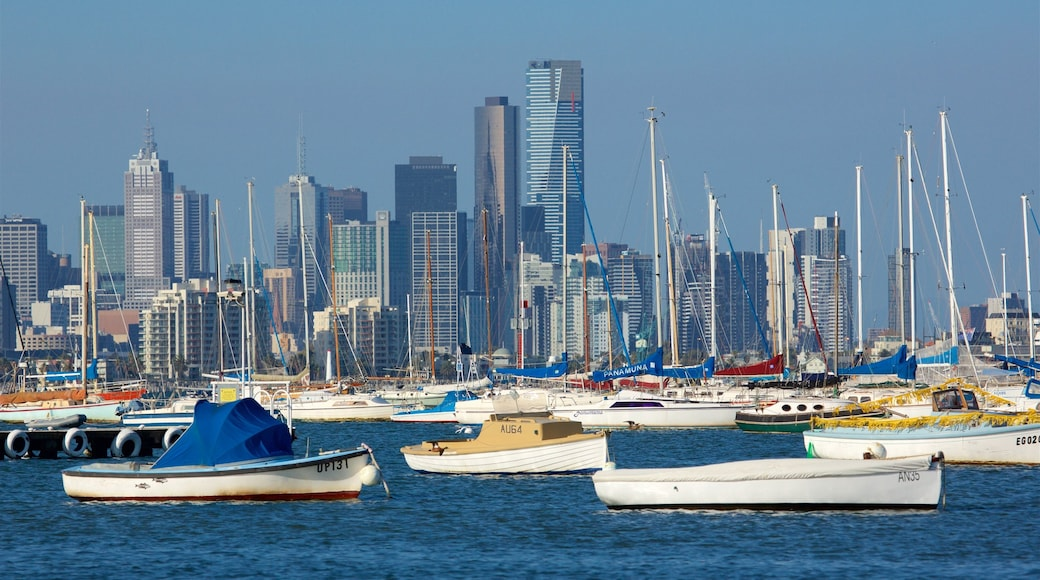 Williamstown featuring a bay or harbour, a city and a high-rise building