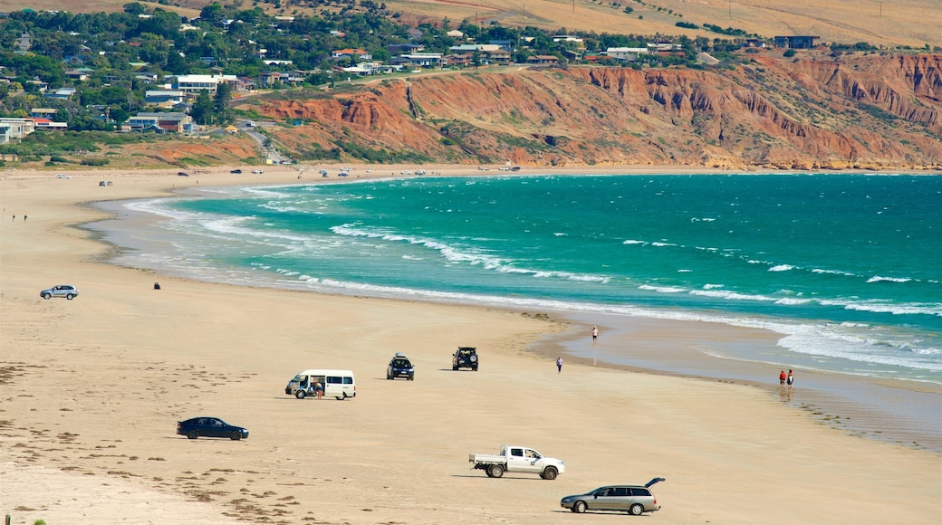 South Australia featuring general coastal views, a beach and rocky coastline