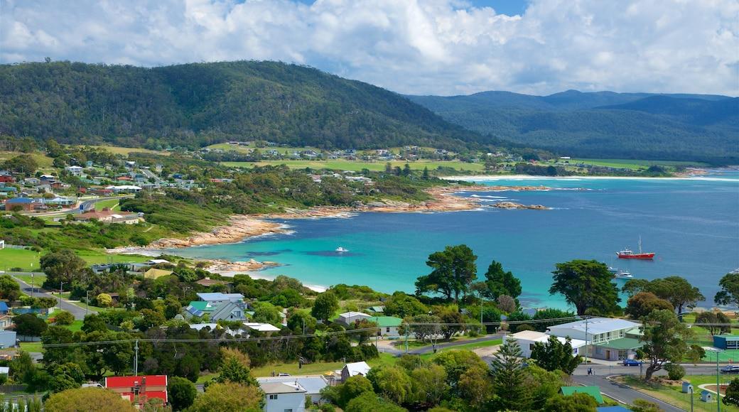 Tasmania featuring tranquil scenes, general coastal views and a coastal town