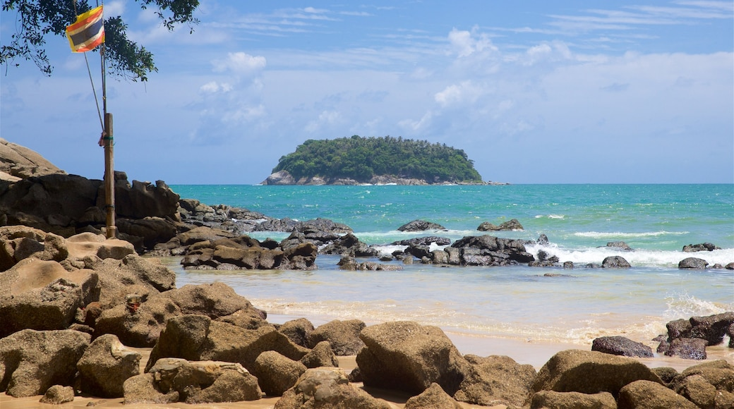 Kata Beach showing rugged coastline, general coastal views and island views
