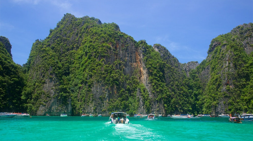 Krabi Province featuring tropical scenes, boating and a bay or harbour