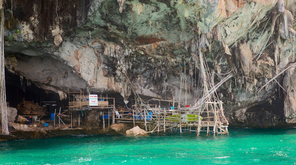 Krabi Province showing caves and a gorge or canyon