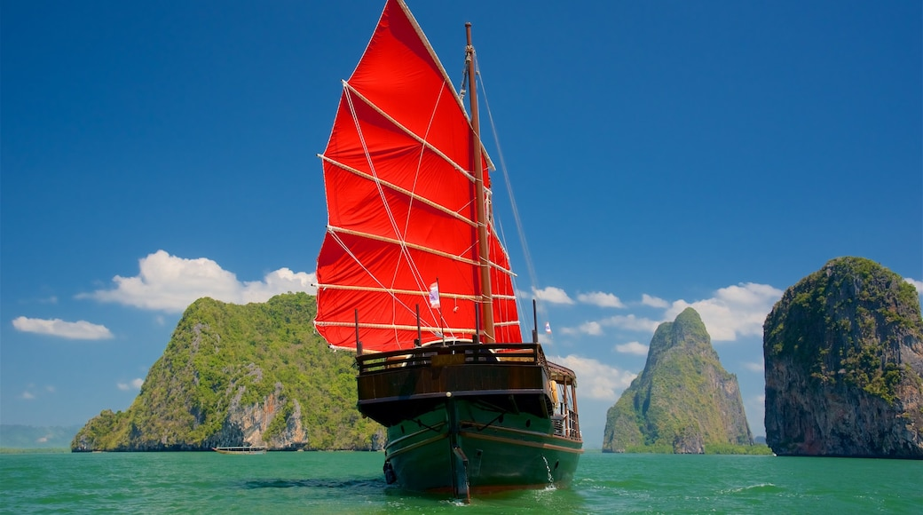 South Thailand which includes boating, general coastal views and tropical scenes