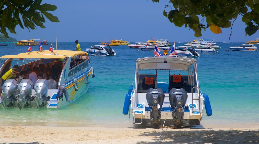 Ko Phi Phi showing a bay or harbour, general coastal views and a beach