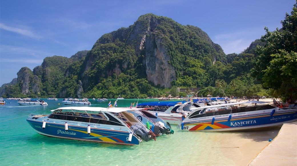 Ko Phi Phi featuring general coastal views, mountains and a sandy beach