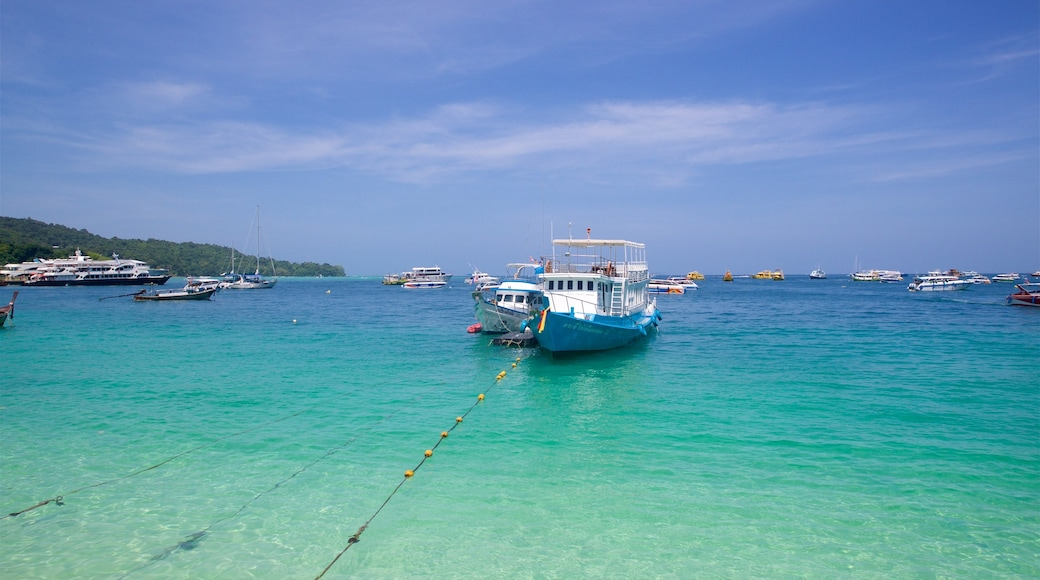 Ko Phi Phi showing a bay or harbour, general coastal views and tropical scenes