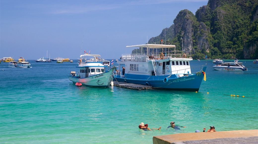 Ko Phi Phi featuring swimming, tropical scenes and a bay or harbour