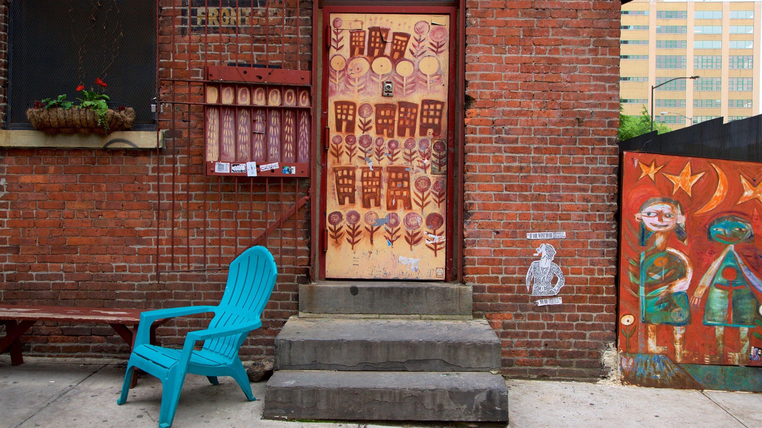 Downtown Brooklyn caratteristiche di arte urbana