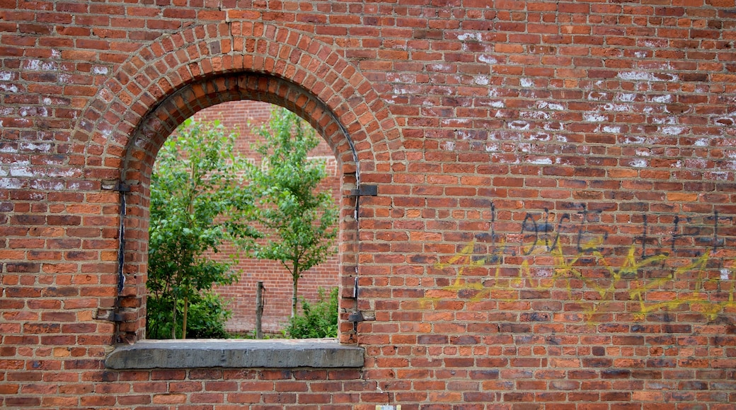 Downtown Brooklyn caracterizando elementos de patrimônio e arte ao ar livre