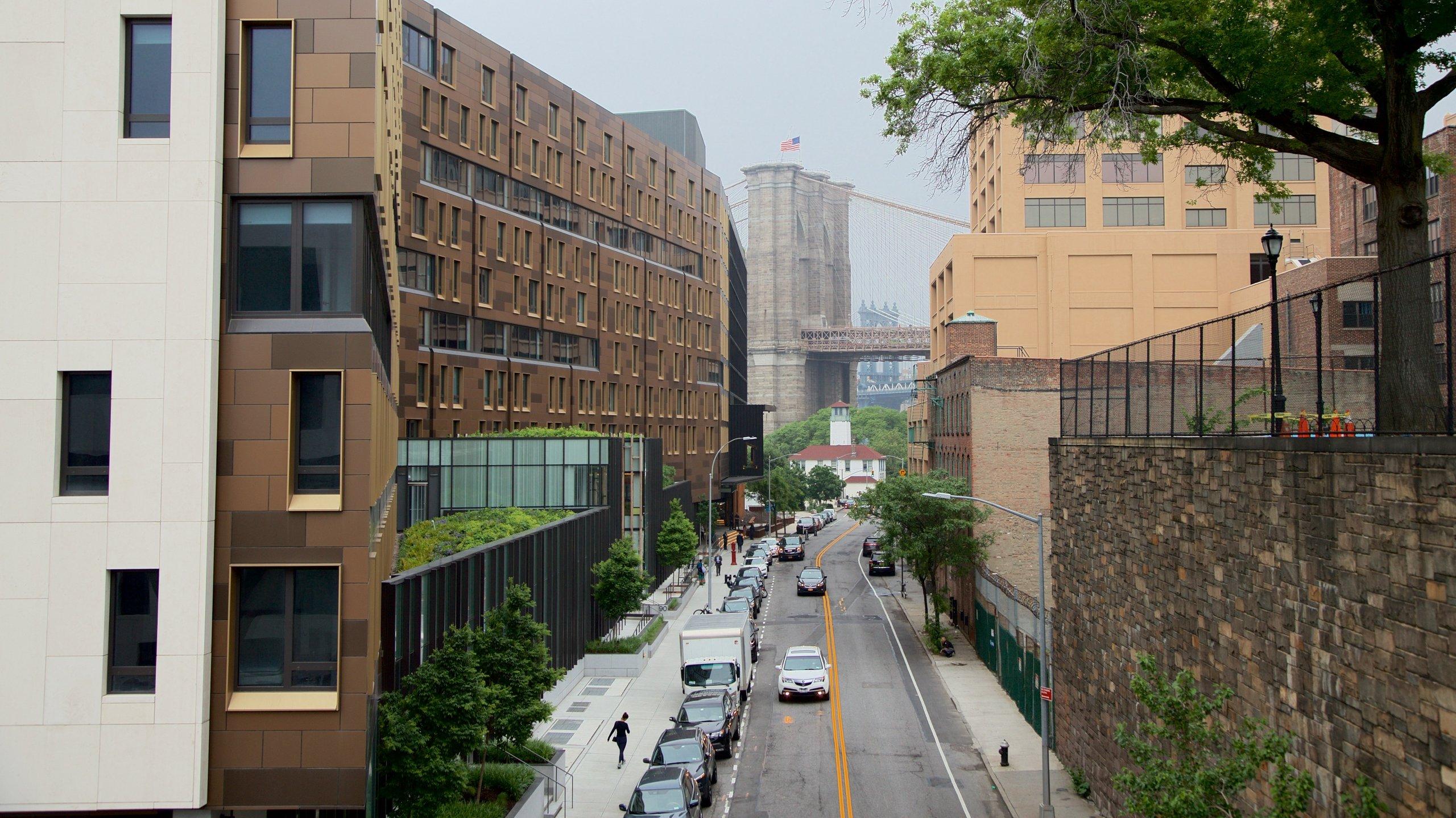 Downtown Brooklyn che include ponte e città