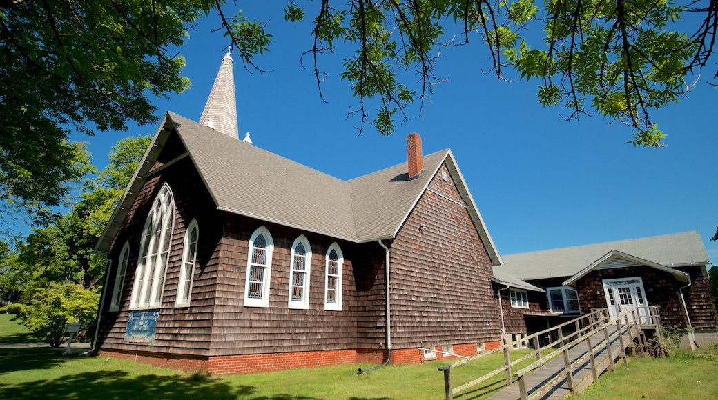East Hampton which includes a church or cathedral and heritage elements