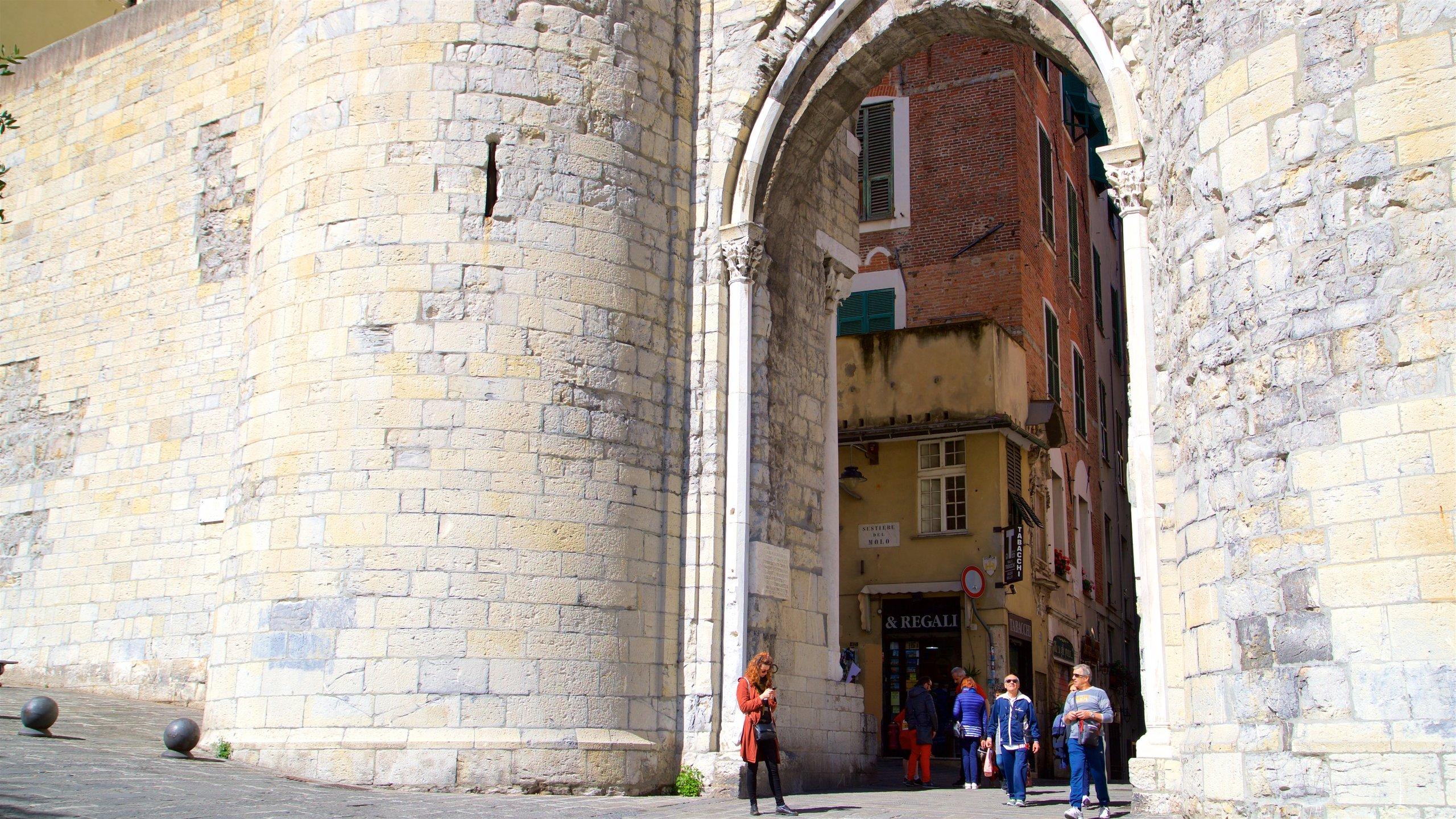Middeleeuwse poort (Porta Soprana), Genova, Ligurië, Italië