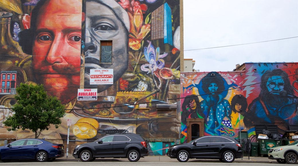 Downtown Jersey City featuring outdoor art
