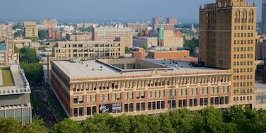 Newark caracterizando uma cidade, paisagem e um edifício