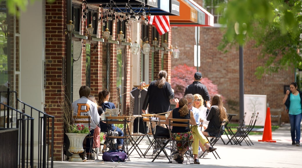 Princeton which includes outdoor eating as well as a small group of people