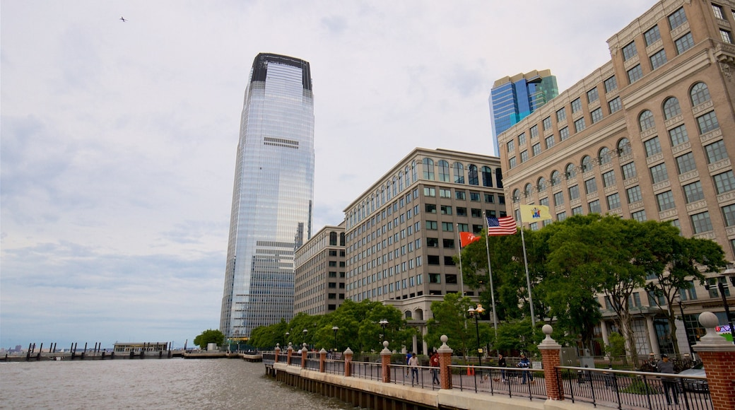 Goldman Sachs Tower featuring a bay or harbour, a high-rise building and a city