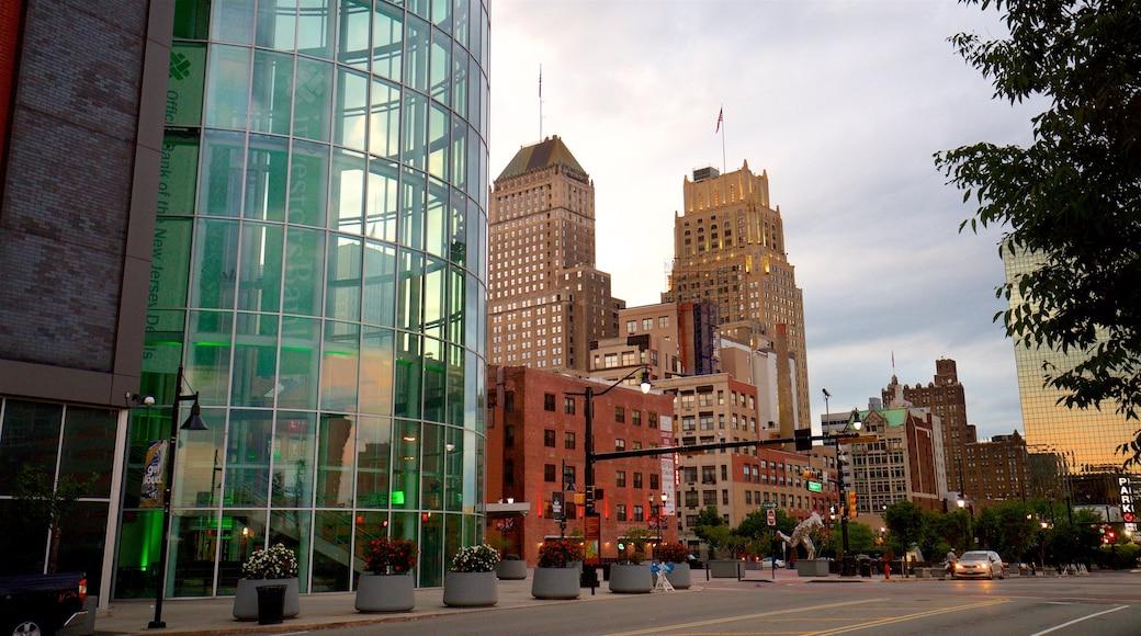 Prudential Center joka esittää kaupunki ja korkea rakennus