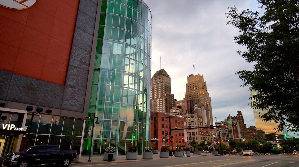Prudential Center johon kuuluu kaupunki ja korkea rakennus