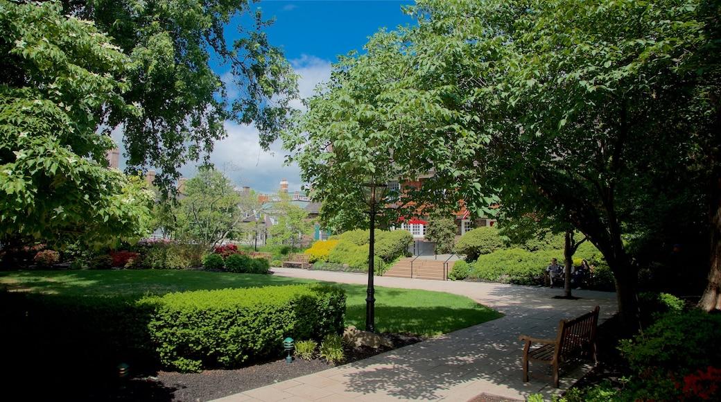 Palmer Square which includes a garden