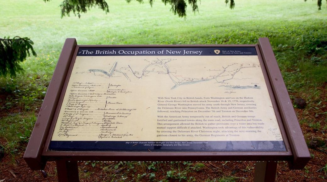 Princeton Battlefield State Park que inclui sinalização