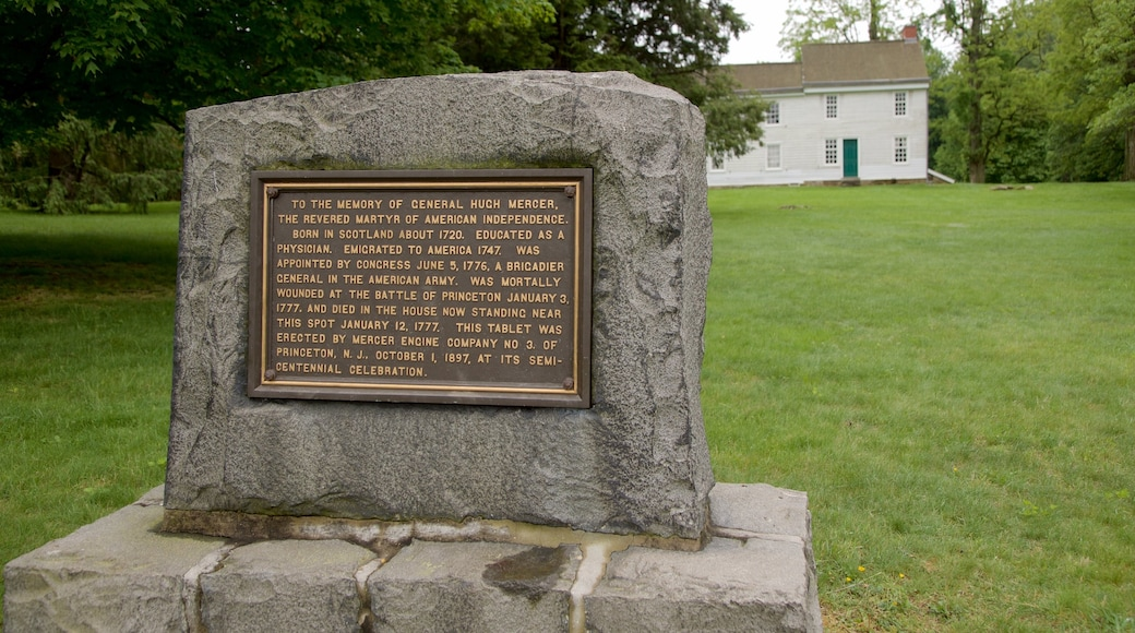 Princeton Battlefield State Park caracterizando uma casa e um jardim
