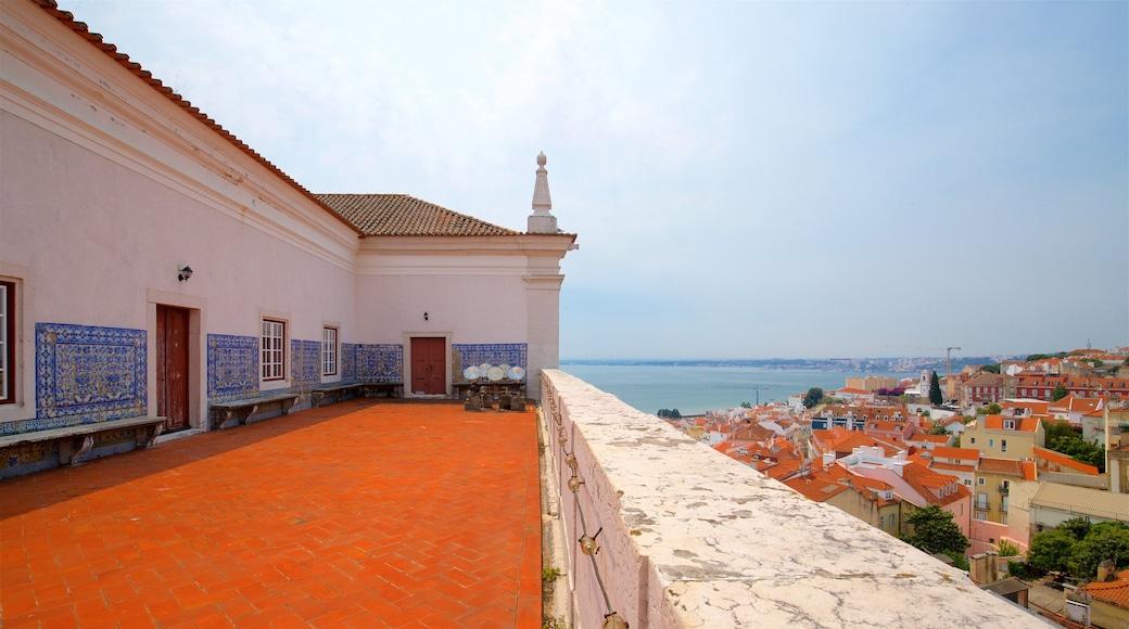 Monastery of Sao Vicente de Fora featuring a city, a coastal town and views