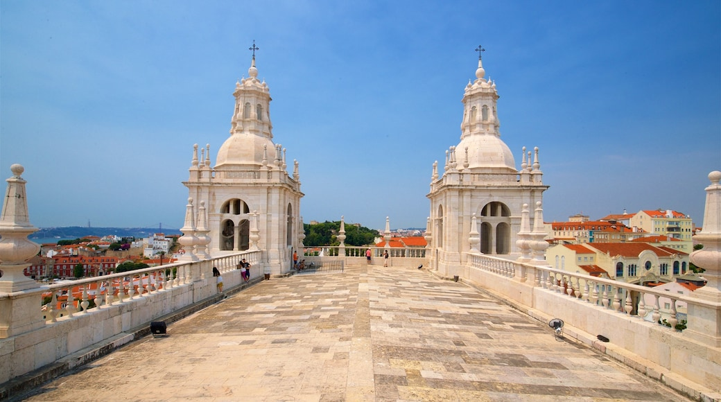 Monastery of Sao Vicente de Fora featuring heritage elements, views and a city