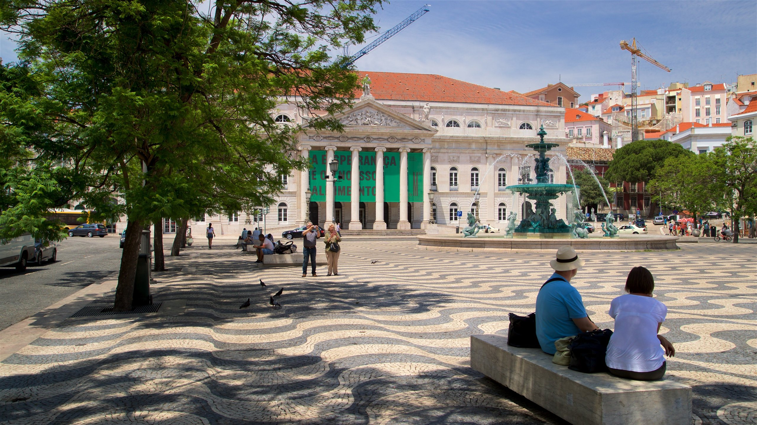 Rossio Square, Lisbon, Lisbon District, Portugal