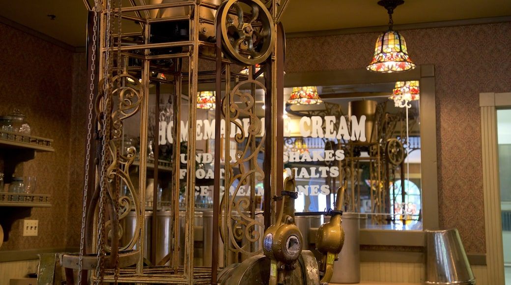Silver Dollar City showing heritage elements and interior views