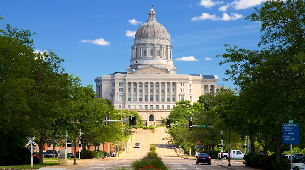 密蘇里州議會大廈 呈现出 歷史建築 和 行政大樓