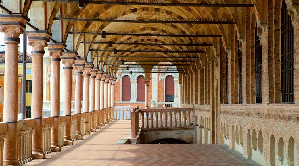 Palazzo della Ragione das einen Innenansichten und Geschichtliches
