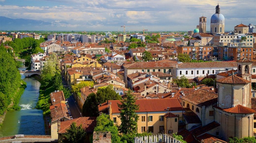"""Astronomisches Observatorium """"La Specola"""" mit einem Landschaften, Fluss oder Bach und Stadt"""