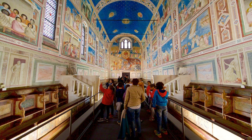 Scrovegni Chapel showing art, interior views and a church or cathedral