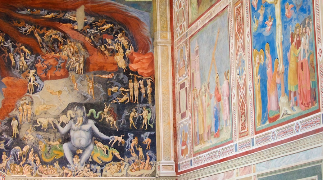 Scrovegni Chapel showing art, religious elements and interior views