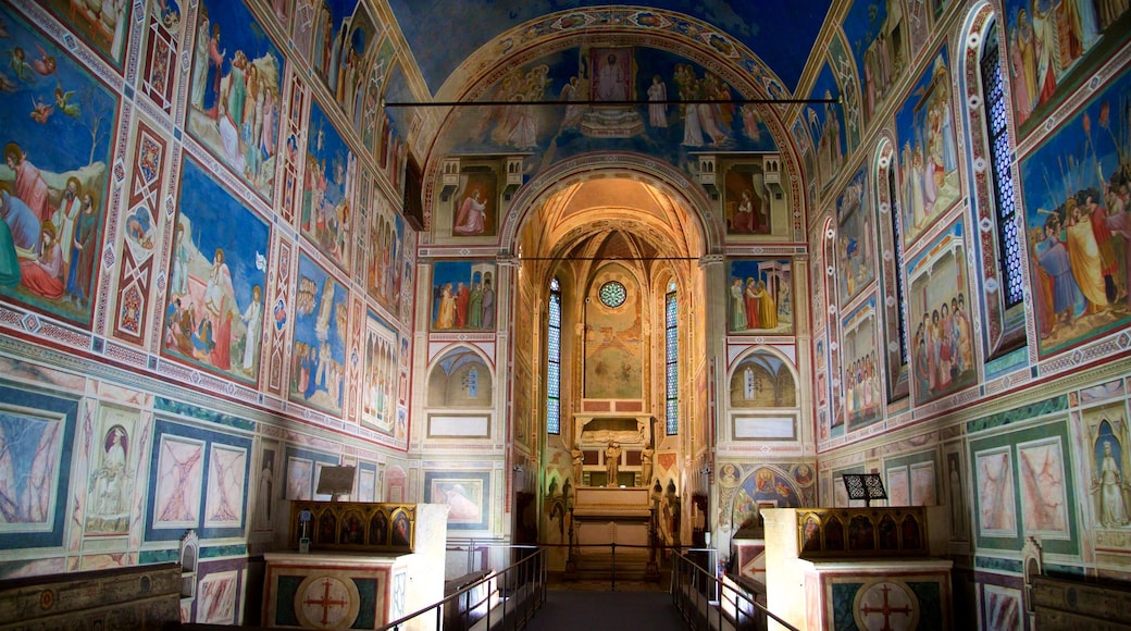 Scrovegni Chapel featuring art, a church or cathedral and religious aspects