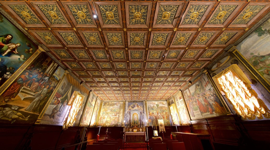 Scoletta del Santo featuring religious elements, interior views and heritage elements