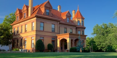 Overholser Mansion featuring a garden, heritage elements and a house